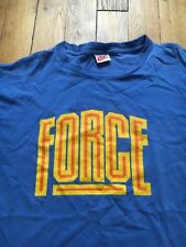 """Vintage Nike """"Force"""" Air Force Shirt size L Made in USA Grey Tag"""