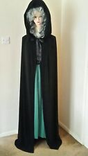 HALLOWEEN PARTY  MEDIEVAL WITCH VAMPIRE TWILIGHT GOTH HOODED CLOAK CAPE s14-18 N