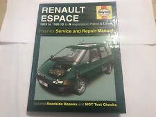 RENAULT ESPACE MPV HAYNES REPAIR MANUAL PETROL TURBODIESEL RXE 1985-1996 C-N