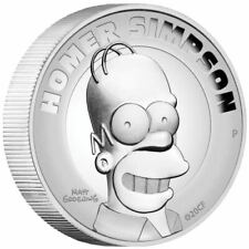 NEW 2021 !! Homer Simpson 2 oz Proof High Relief Tuvalu - ONLY 2000 Minted!