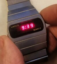 Vintage Rare Lanco Swiss Made 104001 70,s LED Watch