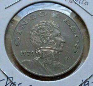 Mexico: Cinco Pesos Coin Year 1976