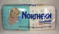 Vintage Northern Coordinates Paper Napkins Qty 120 1991 NOS New Flower Teal Blue