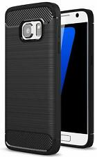 For Samsung Galaxy S7 Carbon Fibre Gel Case Cover Shockproof & Stylus Pen