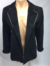 Danier Canada Suede Women's Jacket Black Blazer US 4-6 Made in Canada