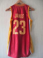 Da Uomo Lebron James #23 Cleveland Cavaliers Basket Nba ADIDAS JERSEY SMALL