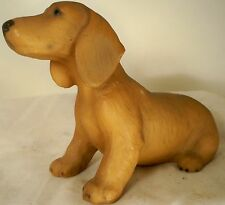 Dog Figurine DACHSHUND SMOOTH Pup Tan Sitting North Lights UK 1983 ADORABLE