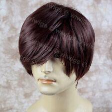 Wiwigs Classic Handsome Bangs Layered Dark Auburn Men's Full Wig