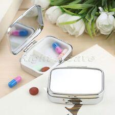 Rectangle Pill Box Medicine Organizer Container Jewellery Case Storage Holder