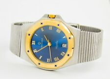 vintage Candino Swiss watch two tone stainless steel back assembling in Cairo