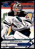 2020-21 Overtime Base Blue Foil #34 Alex Stalock - Minnesota Wild