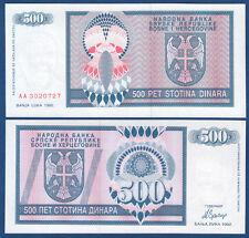 Bosnia h./bosnia H. 500 dinara 1992 UNC p.136