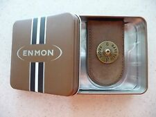 #MC106 BASS PRO SHOPS 12 GA. BROWN LEATHER MAGNETIC MONEY CLIP & ENMON METAL BOX