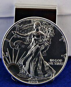 Fine Silver US American Eagle Coin Money Clip