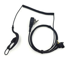 1 Pin Coiled Wire Earpiece Mic for Motorola MTH600 MTH650 MTS850 MTH850 Headset