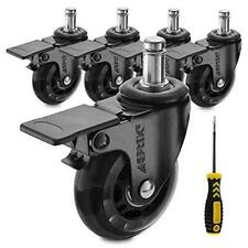 Agptek Office Chair Casters Heavy Duty With Screwdriver Safe Roller Wheel
