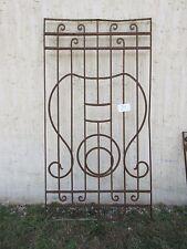 Antique Victorian Iron Gate Window Garden Fence Architectural Salvage #794