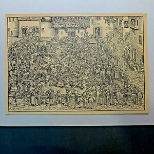 Das Gestech,Antik Grafik,( Lucas Cranach ) ,1920 er Jahre