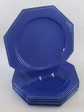 "6 Rare Le Poet- Lavol France Provence Blue 12"" Dinner/Charger Plates"