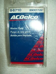 Windshield Washer Pump ACDelco  8-6710 New in package GM 89001122
