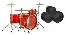 Pearl Crystal Beat MAKE OFFER 24x14,13x9,16x15 Ruby Red Drums +BAGS Auth Dealer