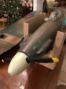 HUGE Rc Aircraft Hurricane 2 Meter Wingspan Warbird RC Plane With Engine Prop...