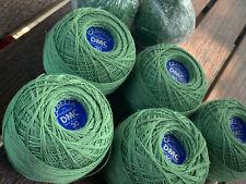Cebelia Dmc Crochet Thread #320 Pistachio Green Size 30 50 Guage 7 balls