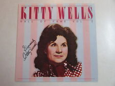 KITTY WELLS GALL OF FAME VOL 1 LP COVER - NO VINYL - HAND AUTOGRAPHED - RARE HTF