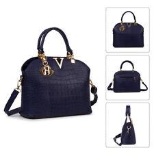 Damen Handtasche Schultertasche Umhängetasche Shopper Tasche Freizeit Königsblau