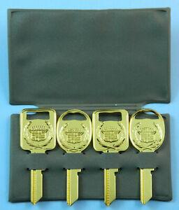 Classic Yellow Gold Cadillac ELDORADO Key blanks 1967 1971 1975 1979 1983 1986