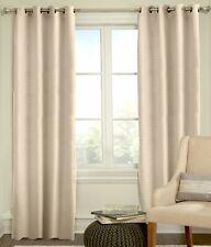 "Veratex Living Room Grommet Window Panel Curtain, Ivory, 63"""