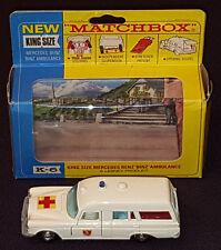 1967 - MATCHBOX KING SIZE No.k6 MERCEDES BENZ BINZ AMBULANCE - LESNEY - WITH BOX