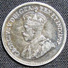 1918 Canada 5 Cents Silver Coin
