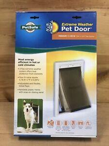 PetSafe Extreme Weather Pet Triple Door White Medium PPA00-10985 1-40lb 🐶❤️