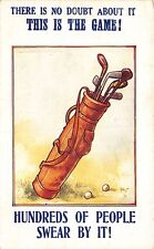 """Golf Clubs """"Hundreds of People Swear By It! """"Signed Tempest Postcard"""