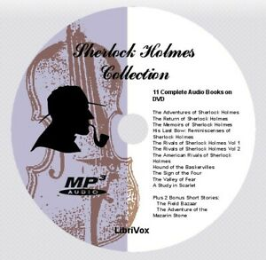 SHERLOCK HOLMES COLLECTION - 11 Audio Books on 1 MP3 Audio DVD