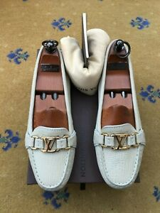 Louis Vuitton Womens Shoes Beige Leather Loafers Drivers UK 5 US 7 EU 38 Ladies