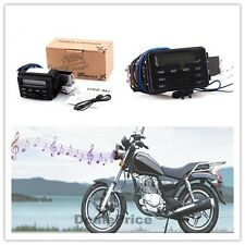 DC12v Waterproof Motorcycle ATV Streetbike Audio Head Unit FM Radio MP3 ipod CD