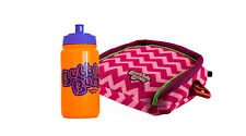 BubbleBum Car Booster Seat - Travel Happy Bundle - Pink