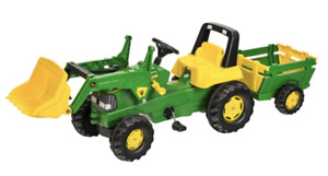Kids Ride On Tractor, Trailer and Loader, Rolly John Deere Outdoor Fun Farmer
