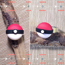 Anello Poketball ~ Cute Ring Fimo Polymer Clay Kawaii Pokémon Fan Art Poket Ball