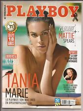PLAYBOY VENEZUELA OCTOBER 2017 COVER TANIA MARIE PLAYMATE MATTIE SPEARS