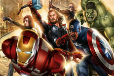 Iron Man Captain America Thor Movie Silk Poster 24x36 inch 002