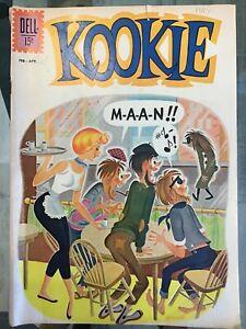 Kookie #1 Dell 1962 VG. Beatnik Comic.
