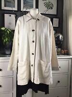 Vintage Jacket Shacket Stitch 12 14 16  Boxy Oversized Lagenlook Artisan Utilit