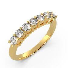 0.33 Carat 7 Round Diamonds Half Eternity Ring in UK Yellow Gold Hallmarked