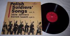 Polish Soldiers Songs Idzie żołnierz borem lasem Poland WW II LP record Vol. 2