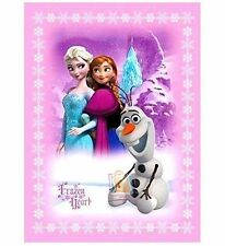Disney Frozen Hearts Olaf Anna & Elsa Baby Sherpa Thrown Raschel Plush Blanket