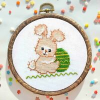 Easter Bunny Counted Cross Stitch Set 16 Aida Embroidery For Beginners DIY KIT