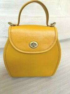 NWT Coach 1941 ORIGINALS Leather Turnlock Curve Top Handle Bag Buttercup128 $350